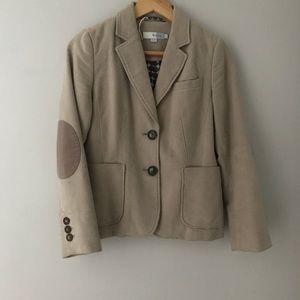 Boden jacket oatmeal beige elbow patches 4 4P euc